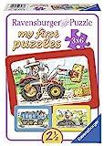 Ravensburger Puzzle Kinder Bagger, Traktor Und Kipplader, Rahmenpuzzle, My First Puzzles Für Kinder...