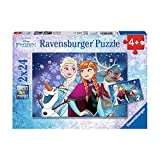Ravensburger Kinderpuzzle 09074 - Frozen - Nordlichter - 2 x 24 Teile