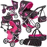 Kinderplay Puppenwagen ab 1 2 3 Jahre Kinderwagen Spielzeug - 3in1 Spielzeug Draussen, Puppenwagen...