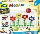Lena 35602 Steckmosaikspiel mit 80 Steckern, transparente Mosaiksteine mit Ø von 15 mm, Mosaikspiel...