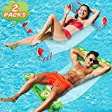 lenbest Wasserhängematte, 2 Pack EIN-klick-Aufblasen Ultrabequeme Luftmatratze Schwimmbad Pool...