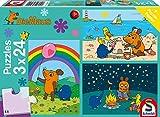 Schmidt Spiele 56212 Die Maus, Gute Freunde, 3x24 Teile Kinderpuzzle