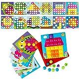 LVHERO Mosaik Steckspiel für Kinder ab 2 Jahre, Steckmosaik mit 46 Steckperlen und 12 Bunten...