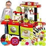 Kinderküche Spielküche Spielzeug Küche KP6031 mit Zubehör Zubehörteile Green Neu...